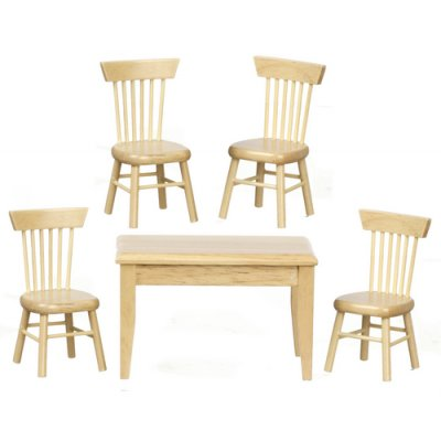 Oak Table & 4 Chairs