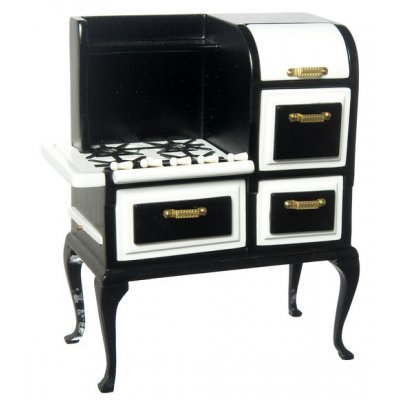 1920s Wooden Stove - Black