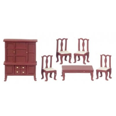 1/2in Scale Dining Room Set 6pc - Mahogany