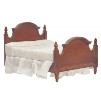 Double Bed - Walnut