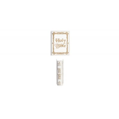 Dollhouse Miniature Holy Bible in White