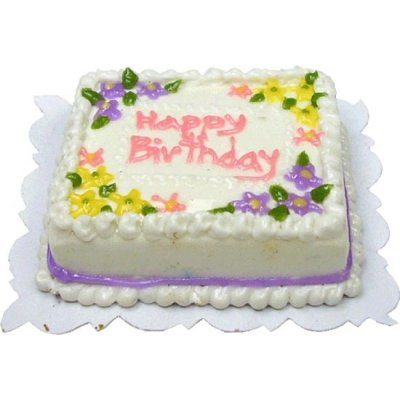 Floral Happy Birthday Cake