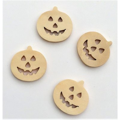 Wood Pumpkins - 4pc