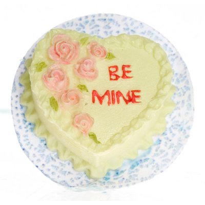 1/2in Scale Be Mine Valentines Cake 2pc