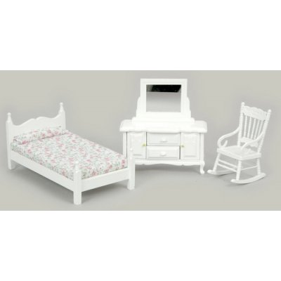 White Bedroom Set 3pc