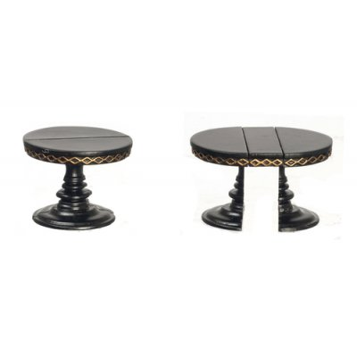 1/2in Scale Adjustable Round Table - Black