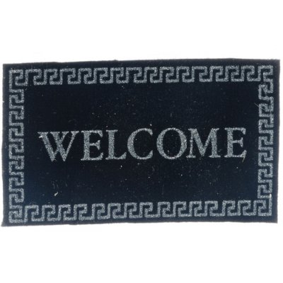Black Welcome Mat