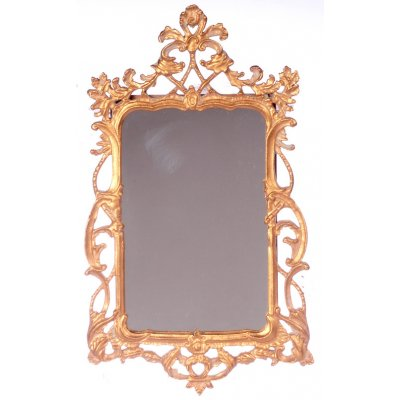 Elegant Victorian Mirror Antique Gold