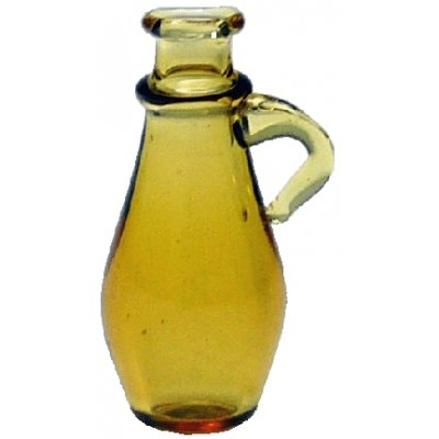 Amber Glass Jug w/Handle