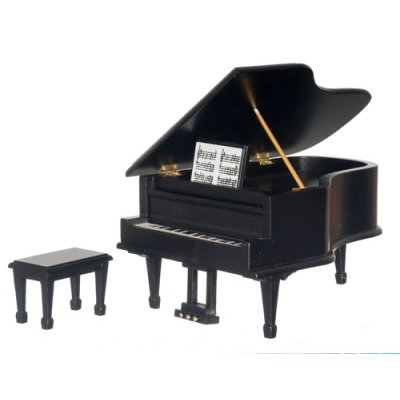 Grand Piano w/ Bench - Black