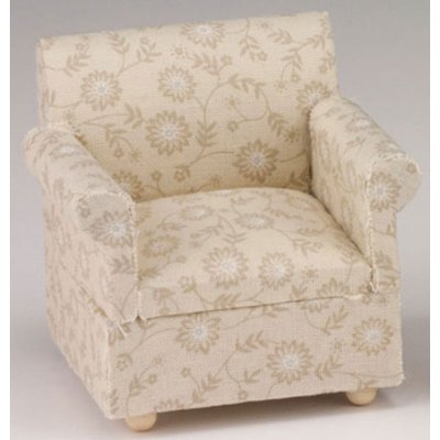 Beige Floral Chair