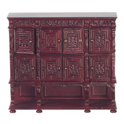 Carved Panel Chest - Mahogany