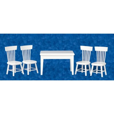 Kitchen Table Set 5pc - White