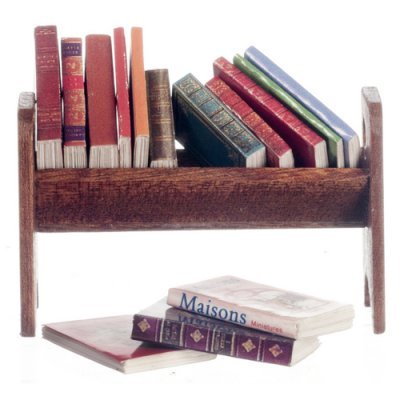 Tabletop Book Rack w/ Books Set