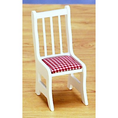 White & Red Gingham Dining Chair