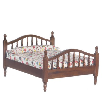Classic Double Bed - Walnut