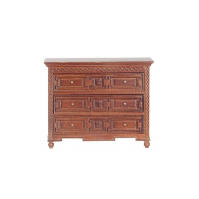Windsor 3 Drawer Chest Dresser - Walnut
