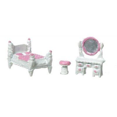 1/4 Inch Pink Bedroom Room Set 3pc