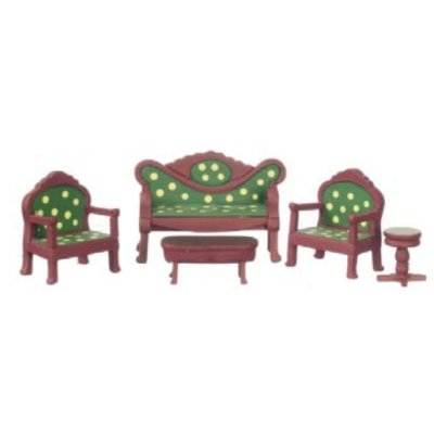 1/2in Scale Living Room Set 5pc - Mahogany