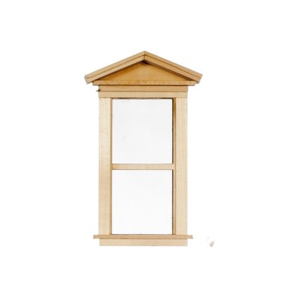 1 Over 1 Single Victorian Style Dollhouse Window