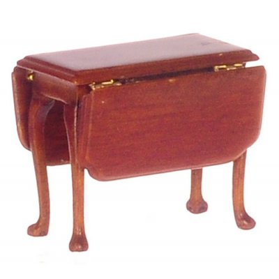 1/2 inch Scale Jefferson Drop-Leaf Table - Walnut
