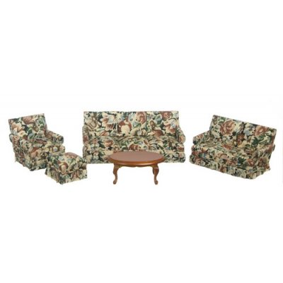 Printed Living Room Set - Walnut 5pc