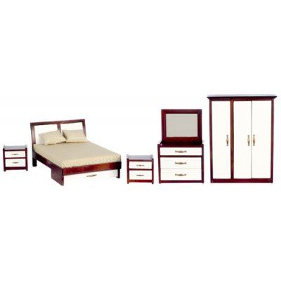 Mahogany Modern Bedroom Set - 5pc