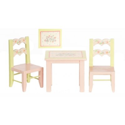 Child's Table w/ 2 Chairs - Pastel