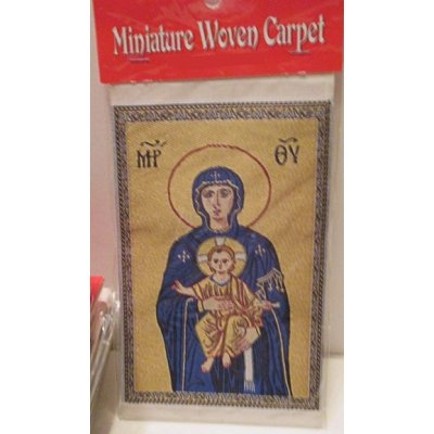 Madonna & Child Woven Rug Wall / Hanging