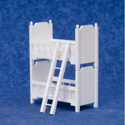 White Bunk Bed w/ Ladder