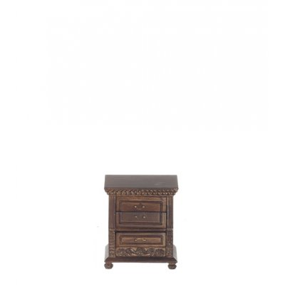 3 Drawer Nightstand - Walnut