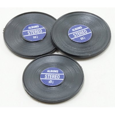 3 Phonograph Records - Blue Label