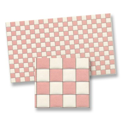 1/2in Scale Tile Pink and White Square