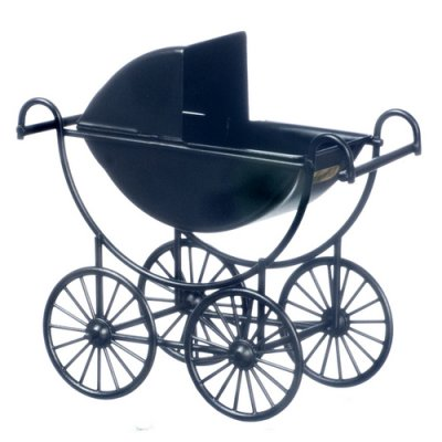 Black Metal Baby Carriage