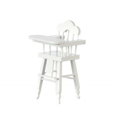 Wooden Highchair - White