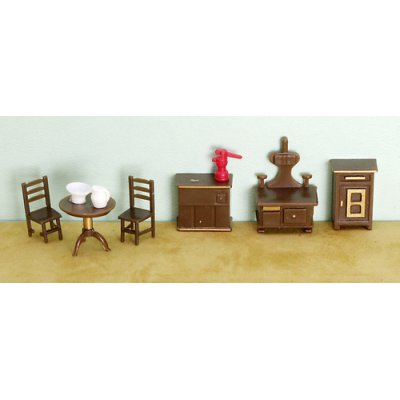 1/4in Scale Kitchen Set Plastic 9pc