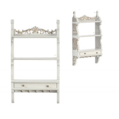 Barrington Wall Shelf/Cabinet - White