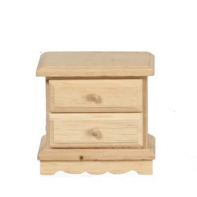 2 Drawer Nightstand - Unfinished Wood