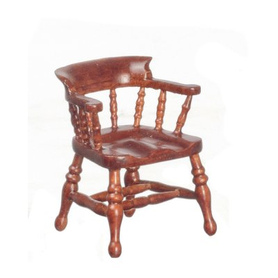 1/2in Scale Firehouse Windsor Chair -  Walnut