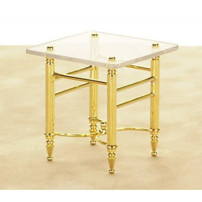 Brass & Glass End Table