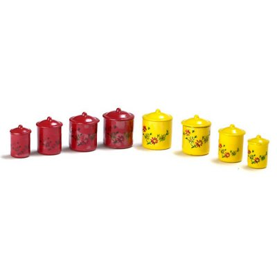 4pc Canister Set Assorted Colors