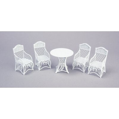 White Table & Chair Set 5pc