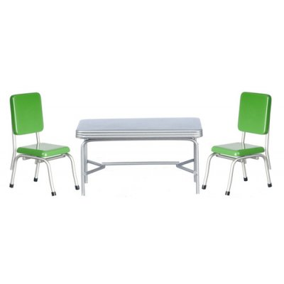 1950's Table & Chairs Set - Green