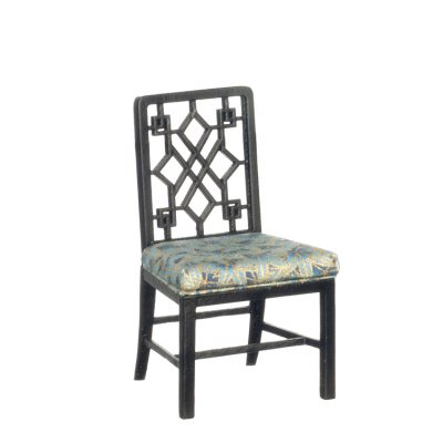 Chinese Chippendale Side Chair - Black