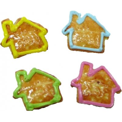 House Shaped Cookies - 4pc