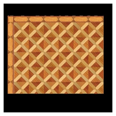12in Scale Square Parquet Wood Flooring Sheet Marys Dollhouse