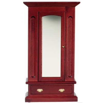 Mirrored Armoire - Mahogany