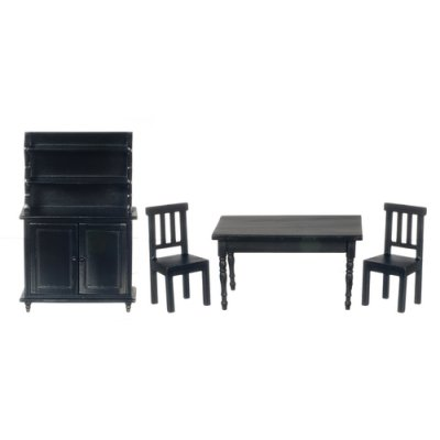 Benson Dining Room Set -  Black - 4pc