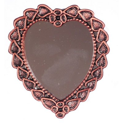 Antique Copper Heart Shaped Wall Mirror