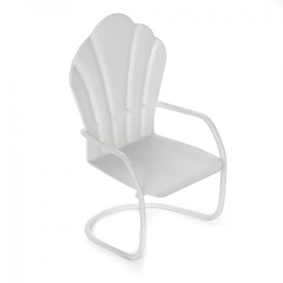 1/2in Scale Metal Chair - White